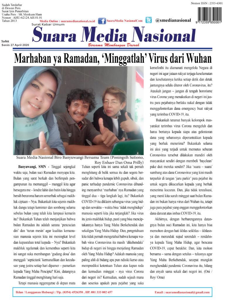 Marhaban ya Ramadan, 'Minggatlah' Virus dari Wuhan