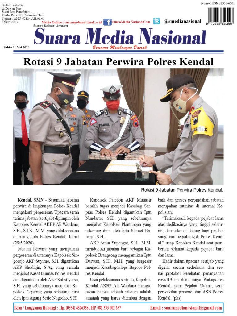 Rotasi 9 Jabatan Perwira Polres Kendal