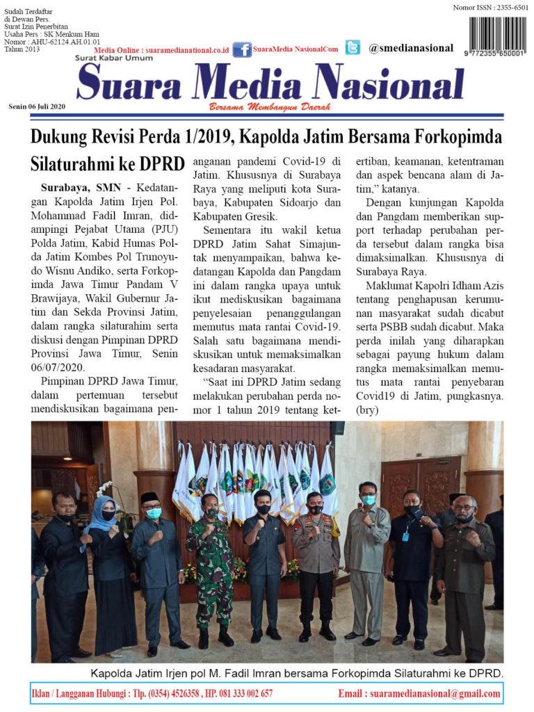 Dukung Revisi Perda 1/2019, Kapolda Jatim Bersama Forkopimda Silaturahmi ke DPRD